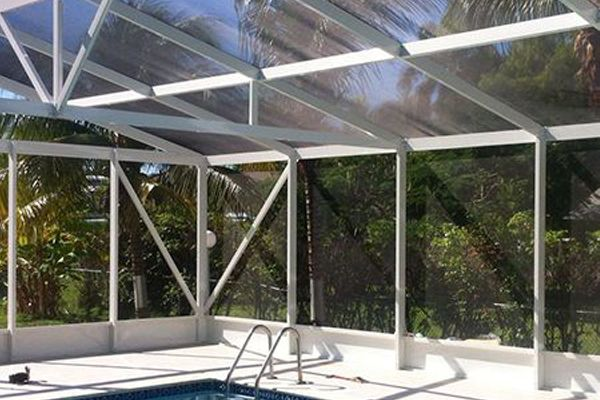 Custom designed pool enclosure in Cayman Islands